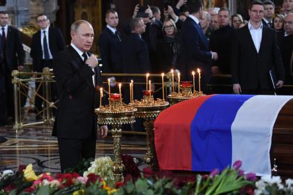 Путин приехал на прощание с Лужковым