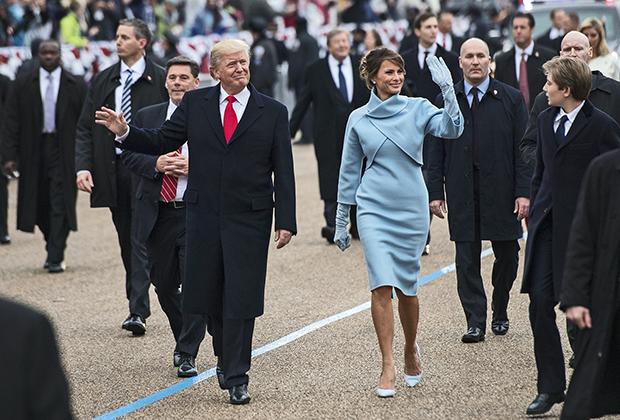 Мелания Трамп на церемонии инаугурации Дональда Трампа, 2017 год