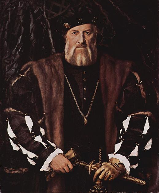 Ганс Гольбейн-младший «Портрет Шарля де Солье», 1534-1535 годы