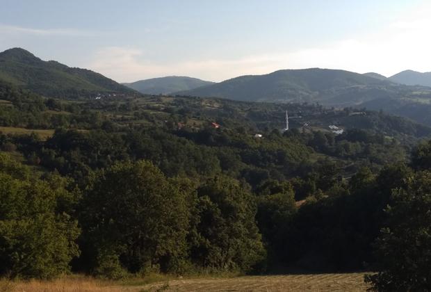 Горы на границе Косова и Центральной Сербии