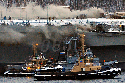 Пожар на «Адмирале Кузнецове» потушили