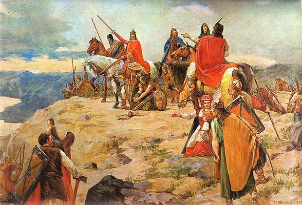 Отон Ивекович «Прибытие хорватов на Адриатику»