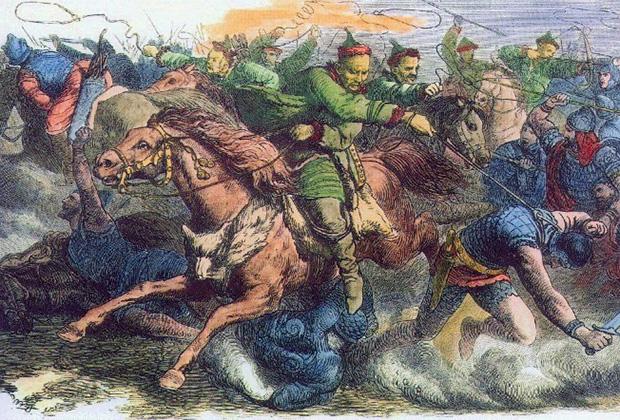 Иоганн Непомук Гейгер «Гунны сражаются с аланами»