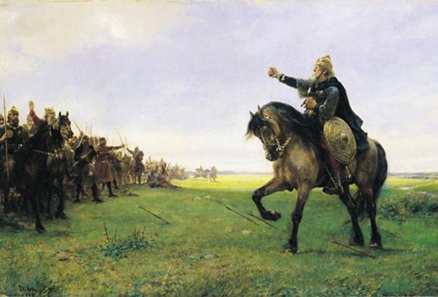 Петер Николай Арбо «Готский вождь вызывает гуннов на бой»