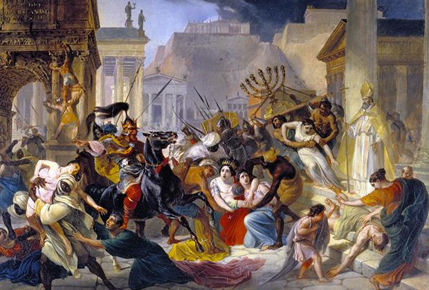 Карл Брюллов «Нашествие Гензериха на Рим»
