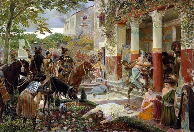 Жорж-Антуан Рошгросс «Гуннские орды Аттилы разоряют виллу в Галлии»