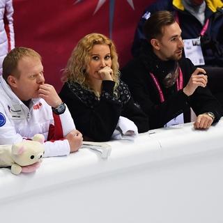 Сергей Дудаков, Этери Тутберидзе и Даниил Глейхенгауз (слева направо)
