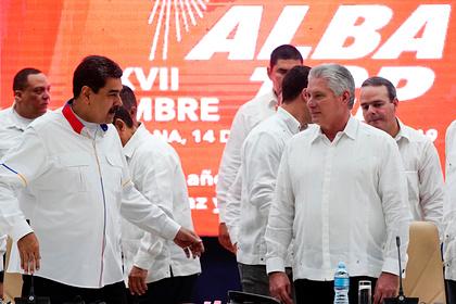 Президенты Венесуэлы и Кубы Николас Мадуро и Мигель Диас-Канель