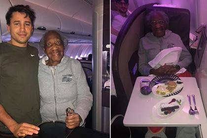 Пассажир бизнес-класса уступил место пенсионерке из эконома и исполнил ее мечту