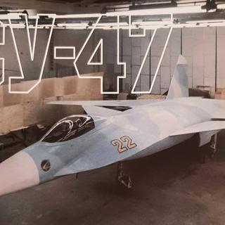 Макет прототипа истребителя 5-го поколения С-22
