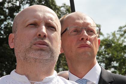 Александр Турчинов и Арсений Яценюк