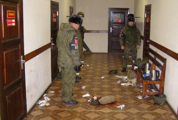 Место расстрела в воинской части поселка Горный (Забайкальский край)
