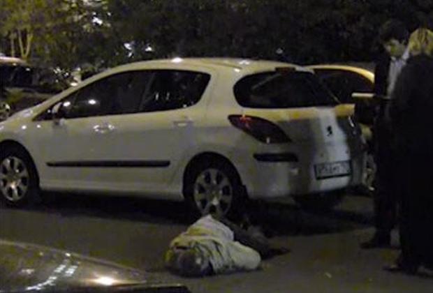 Место убийства Александра Леонова
