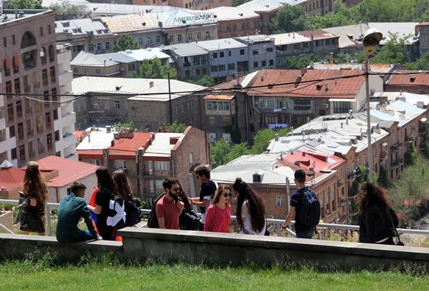 Смотровая площадка комплекса «Каскад» в Ереване