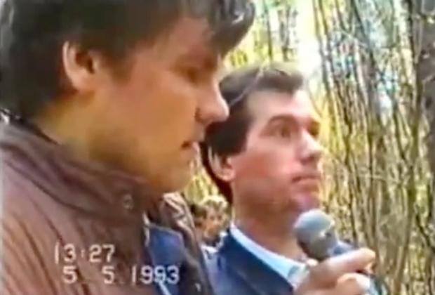 Сергей Ряховский на следственном эксперименте