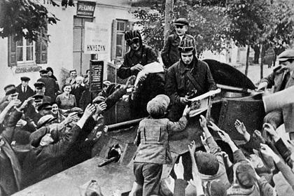 Бойцы Красной армии в Восточной Польше, 1939 год