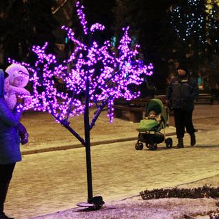 Праздничная подсветка в Донецке