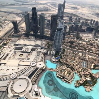 Вид с небоскреба Бурдж Халиф