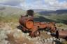 Эта американская паровая машина стоит возле молибденовых рудников еще с 30-х годов и теперь служит ориентиром для туристов.