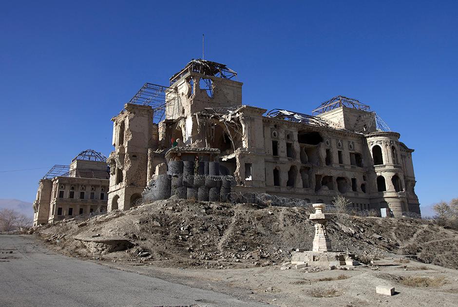 Руины королевского дворца, служившего резиденцией Хафизулле Амину