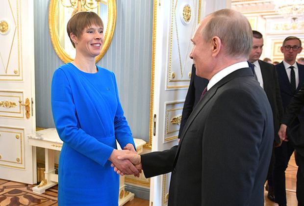 Встреча Владимира Путина с президентом Эстонии Керсти Кальюлайд