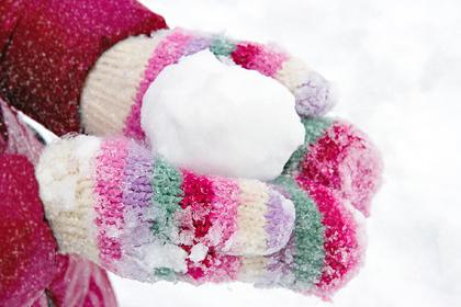 В российском городе начали продавать снег для Нового года