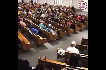Опубликовано видео стрельбы по прихожанам американской церкви
