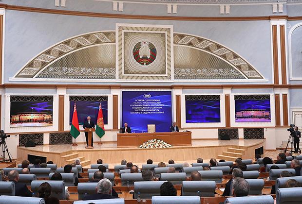 Выступление Александра Лукашенко перед новым парламентом