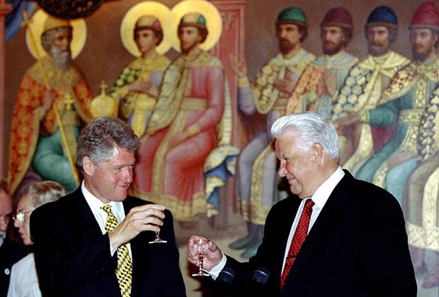 Президент США Билл Клинтон и Борис Ельцин в Кремле
