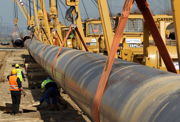 Строительство газопровода OPAL
