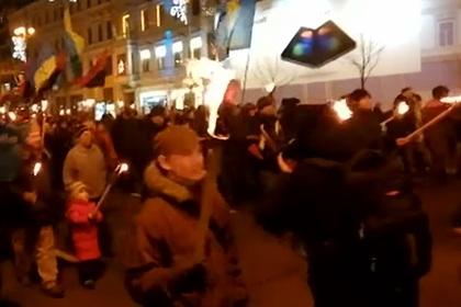 В Киеве прошел марш с факелами в честь Бандеры