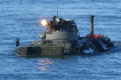 Учения подразделений российской морской пехоты