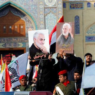 Иракские протестующие с портретами Касема Сулеймани
