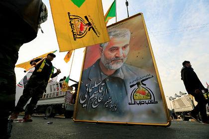 Портрет иранского генерала Касема Сулеймани