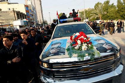 Похороны иранского генерала Касема Сулеймани