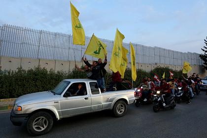 Акция сторонников «Хезболлы» в Ливане