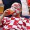 Болельщик сборной Хорватии во время матча на чемпионате мира в России