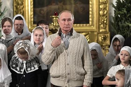 Путин встретил Рождество в Санкт-Петербурге третий раз подряд
