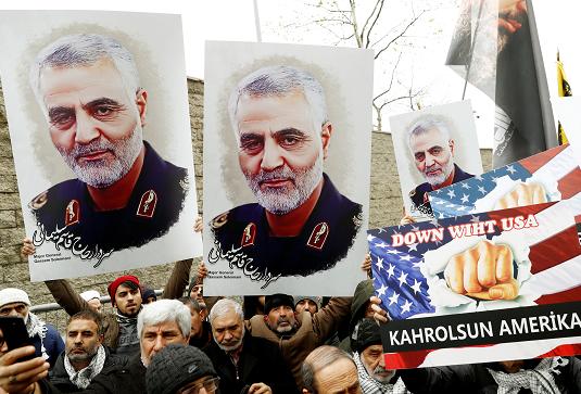 Протесты против убийства Сулеймани в Турции