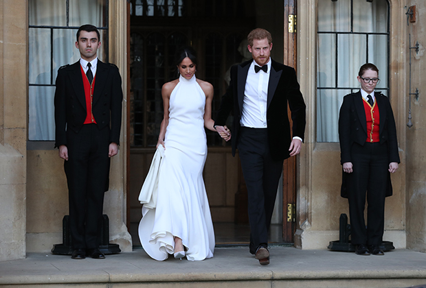 Платье Меган Маркл на вечернем приеме в день свадьбы