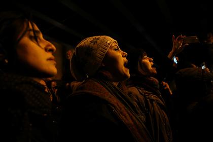 Участники акции в Тегеране