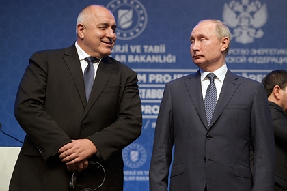 Владимир Путин и Бойко Борисов (слева)