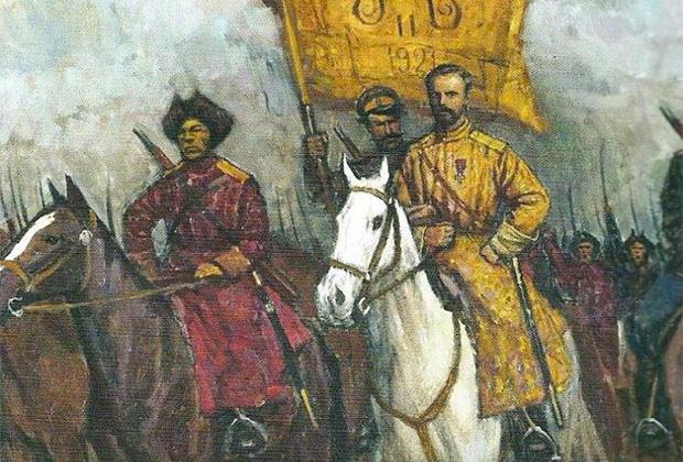 Картина Дмитрия Шмарина «Барон Унгерн — За Веру, Царя и Отечество»