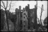 Разрушенные дома в городе Свинемюнде после атаки американских бомбардировщиков. Свинемюнде, Германия, 1945 год.