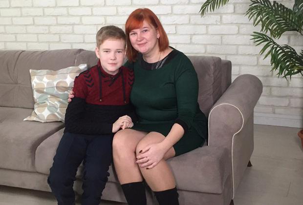Наталья Федина и ее сын Ваня