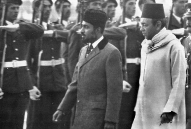 Кабус бен Саид и король Марокко Хасан II в Рабате, октябрь 1974 года