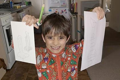 Взрослые разглядели мужские гениталии в детском рисунке тыквы