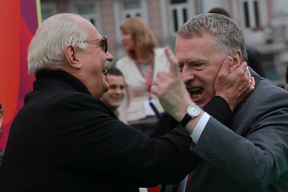 Никита Михалков и Владимир Жириновский