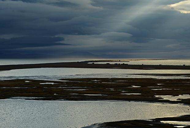 Берингово море расположено на севере Тихого океана, отделено от него Алеутскими и Командорскими островами, омывает берега России и США.