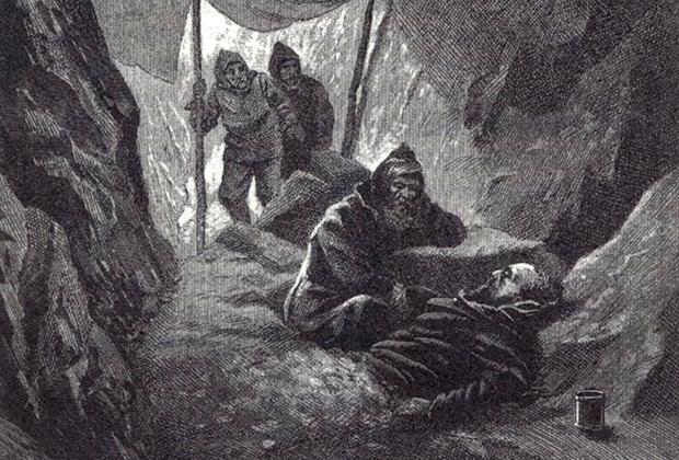 По рассказам моряков, даже умирая и не имея возможности пошевелить ни рукой, ни ногой, Беринг не терял бодрости духа и находил задушевные слова, чтобы ободрить оставшихся в живых членов экспедиции.